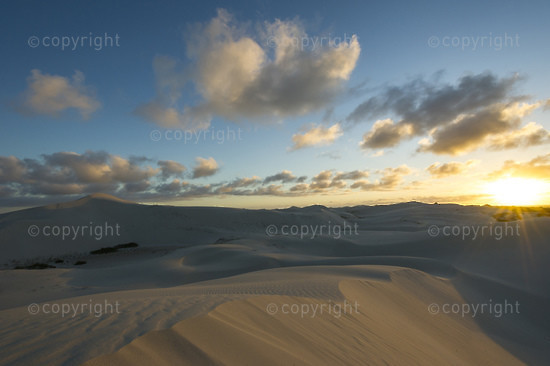 Sun sets over the De Hoop Nature Reserve Dune Field