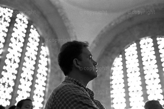 2000 A young man during the service held to remember the vow