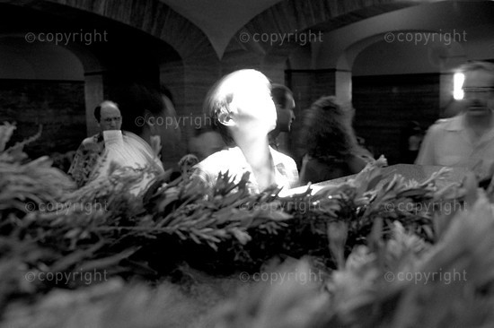 1994 A child bathes in the light at midday as the sun crosses the cenotaph