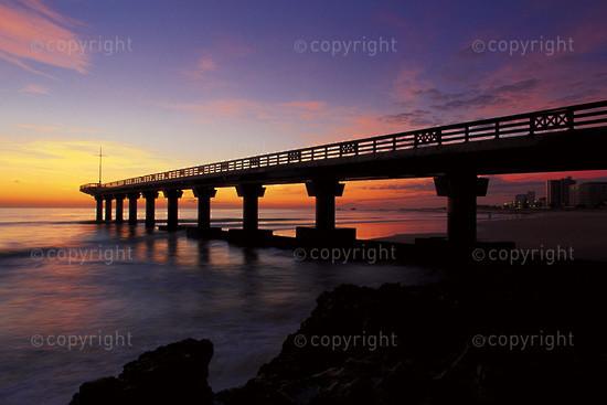 Shark Rock Pier at sunrise, Port Elizabeth, South Africa