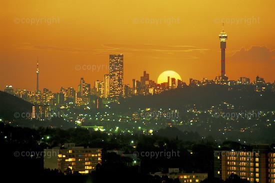 JOHANNESBURG SUNSET, SOUTH AFRICA