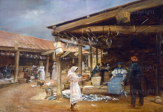 The Old Cape Town Fish Market at Roggebay, 1898, 1898