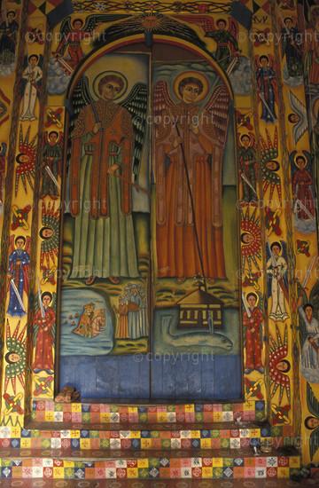 Church painting in Kusukam, Gondar, Ethiopia