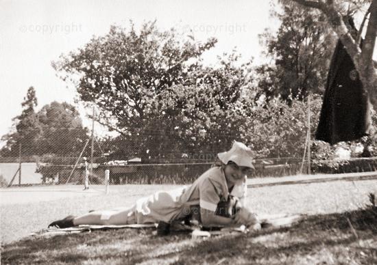 Swotting and sunbathing: Ann