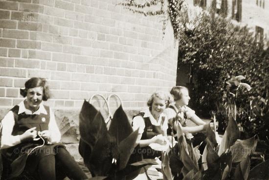 Friends beside the Chapel