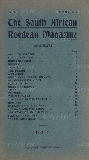 The South African Roedean Magazine December1917