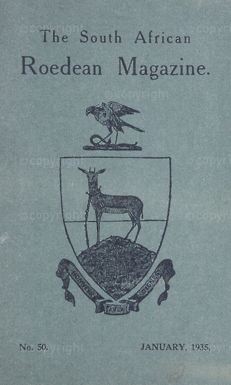 The South African Roedean Magazine January 1935