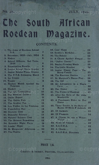 The South African Roedean Magazine July 1924