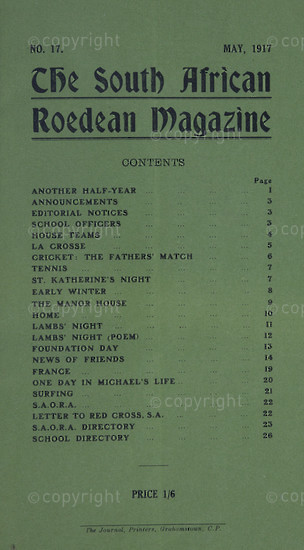 The South African Roedean Magazine May 1917
