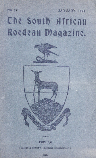 The South African Roedean Magazine January 1927
