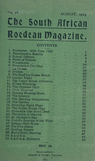 The South African Roedean Magazine August 1923