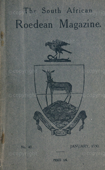 The South African Roedean Magazine January 1930