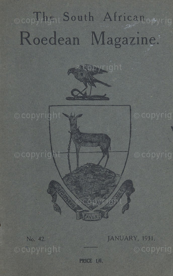 The South African Roedean Magazine January 1931