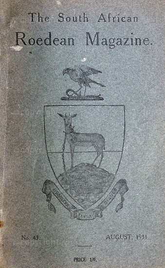 The South African Roedean Magazine August 1931