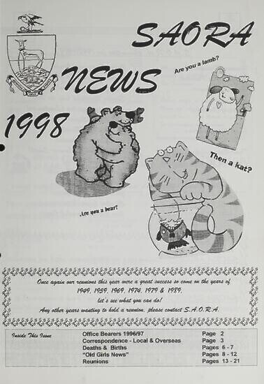 SAORA Newsletter, May 1998.