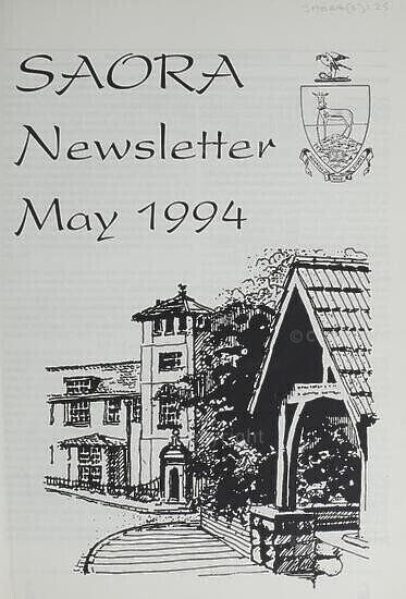 SAORA Newsletter, May 1994.