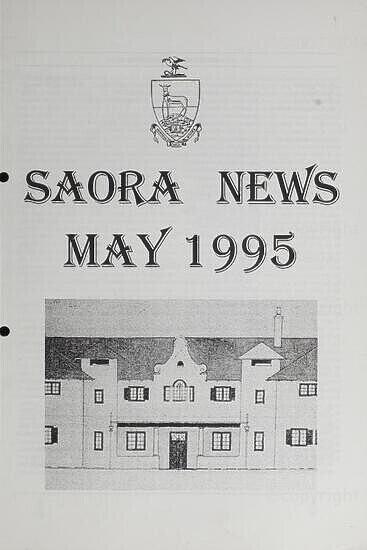 SAORA Newsletter, May 1995.