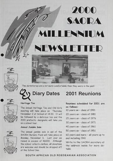 SAORA Newsletter, 2000.