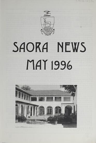 SAORA Newsletter, May 1996.