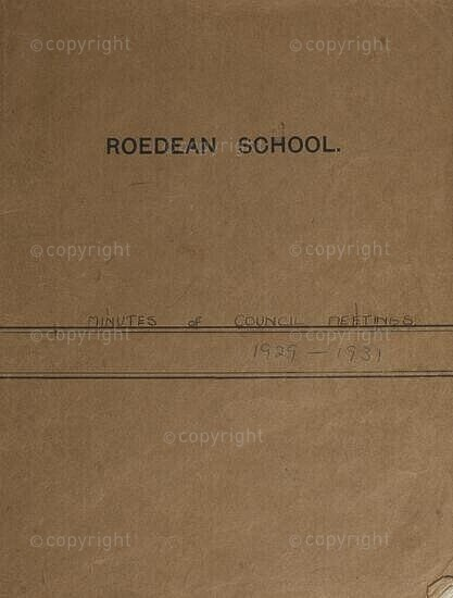 Record book (Council Meetings), Roedean School (South Africa), 1929 - 1931.