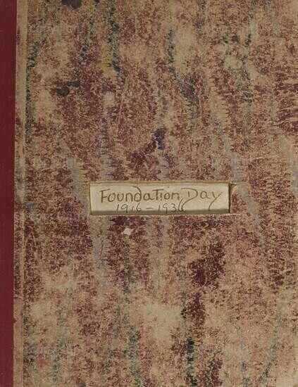 Record book (Foundation Day), Roedean School (South Africa), 1916 - 1936.