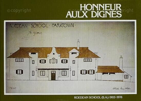Honneur Aulx Dignes, Roedean School (South Africa), 1903 - 1978.