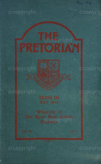 The Pretorian, July 1914, Vol. 3, No. 1