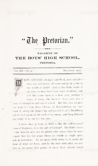 The Pretorian, December 1917, Vol. 3, No. 4