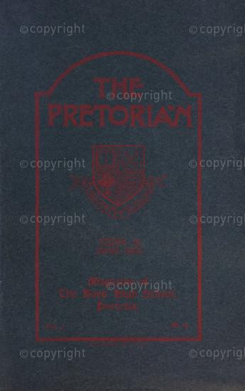 The Pretorian, June 1910, Vol. 1, No. 4