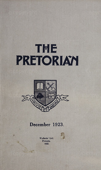 The Pretorian, December 1923, Vol. 3, No. 9