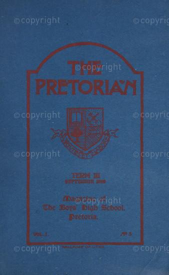 The Pretorian, September 1910, Vol. 1, No. 5