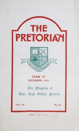 The Pretorian, December 1921, Vol. 3, No. 7