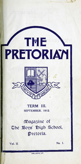 The Pretorian September 1912