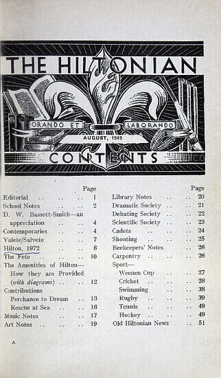 The Hiltonian, August 1949