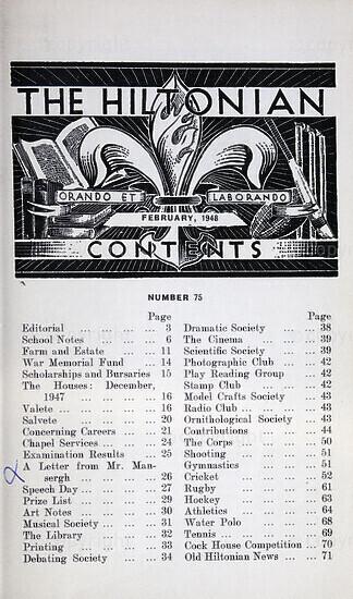 The Hiltonian, February 1948, No. 75