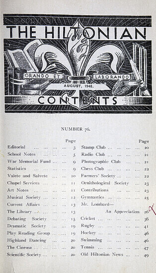 The Hiltonian, August 1948, No. 76