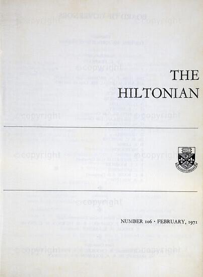The Hiltonian, February 1971, No. 106