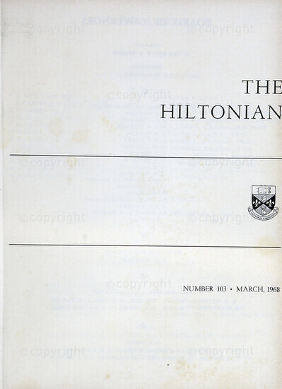 The Hiltonian,  March 1968, No. 103