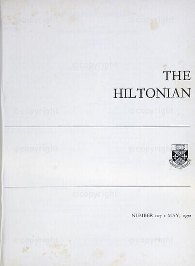 The Hiltonian, May 1972, No. 107