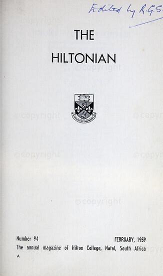 The Hiltonian, February 1959, No. 94