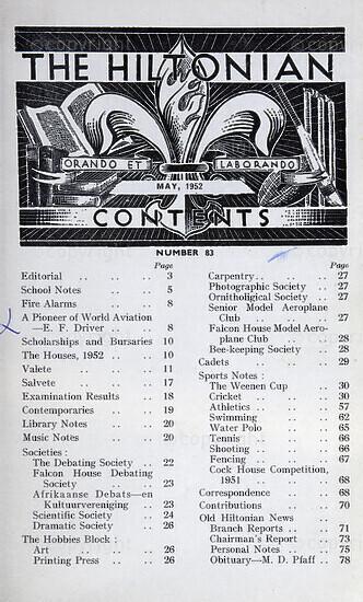 The Hiltonian, May 1952, No. 83
