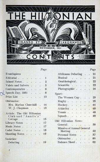 The Hiltonian, November 1951