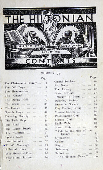 The Hiltonian, August 1947, No. 74
