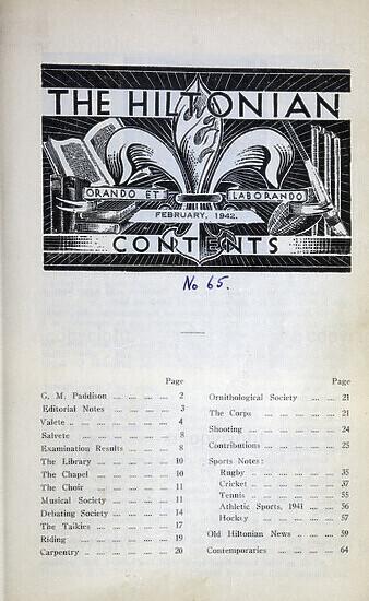 The Hiltonian, February 1942, No. 65