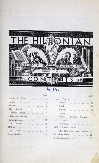 The Hiltonian, August 1941, No. 64