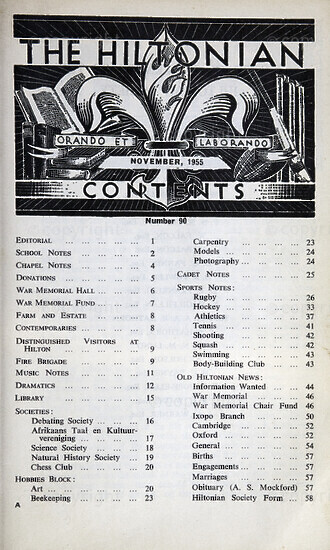 The Hiltonian, November 1955, No. 90