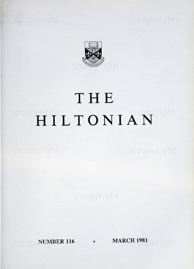 The Hiltonian, March 1981, No. 116