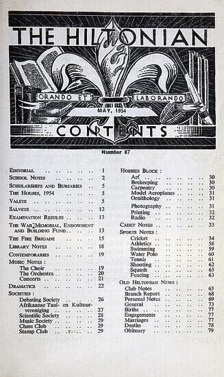The Hiltonian, May 1954, No. 87
