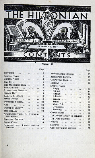 The Hiltonian, February 1957, No. 92