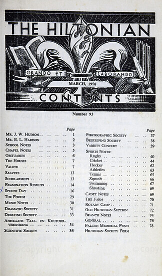 The Hiltonian, March 1958, No. 93